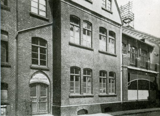 Former printing office at todays Max Leven Gasse
