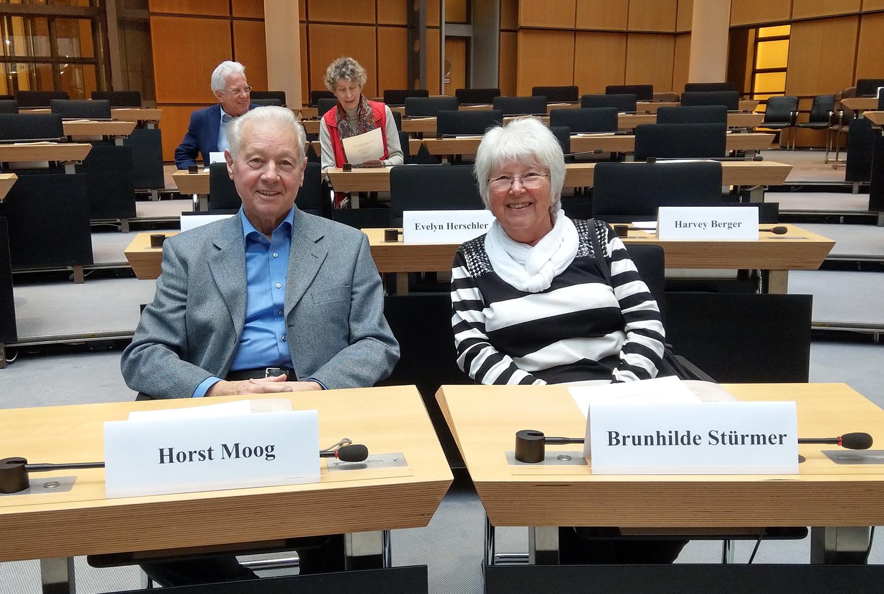 Horst Moog with Brunhilde Stürmer