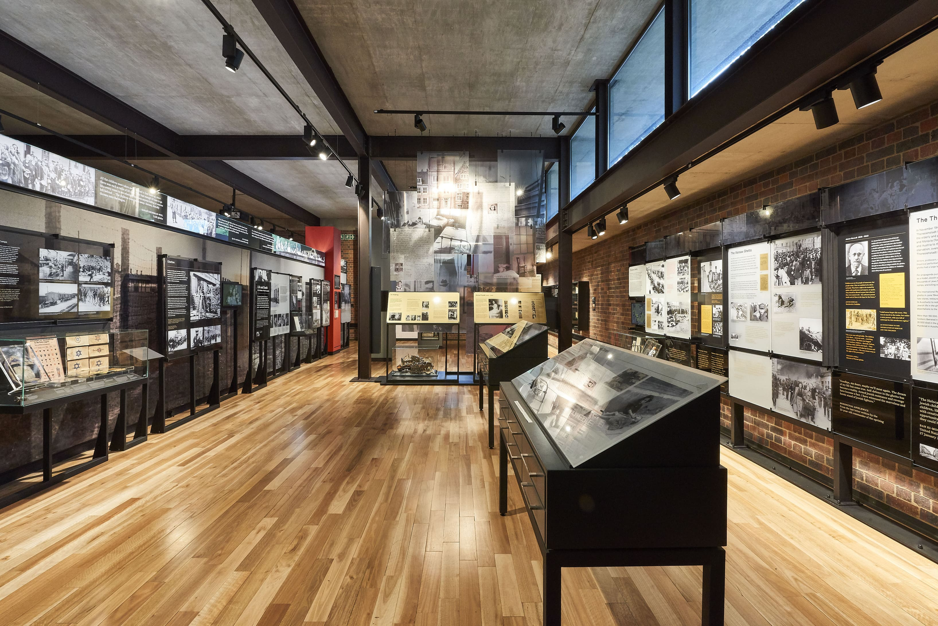 The permanent exhibition at the Johannesburg Holocaust and Genocide Centre