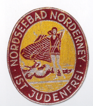 Batch Norderney Judenfrei of the SA