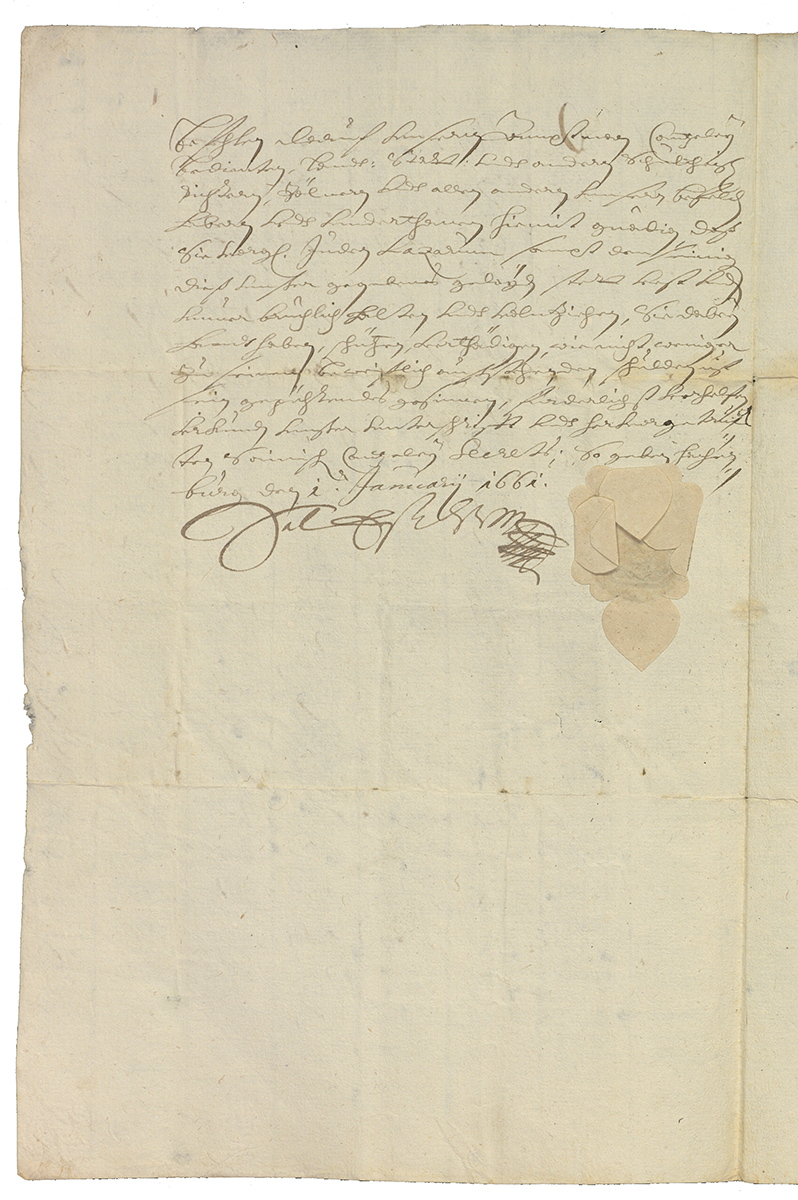 Letter of protection from Count Salentin Ernst