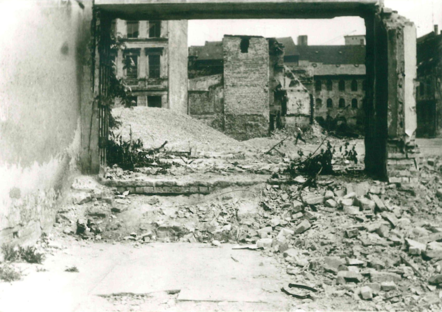 Demolished remains of the synagogue