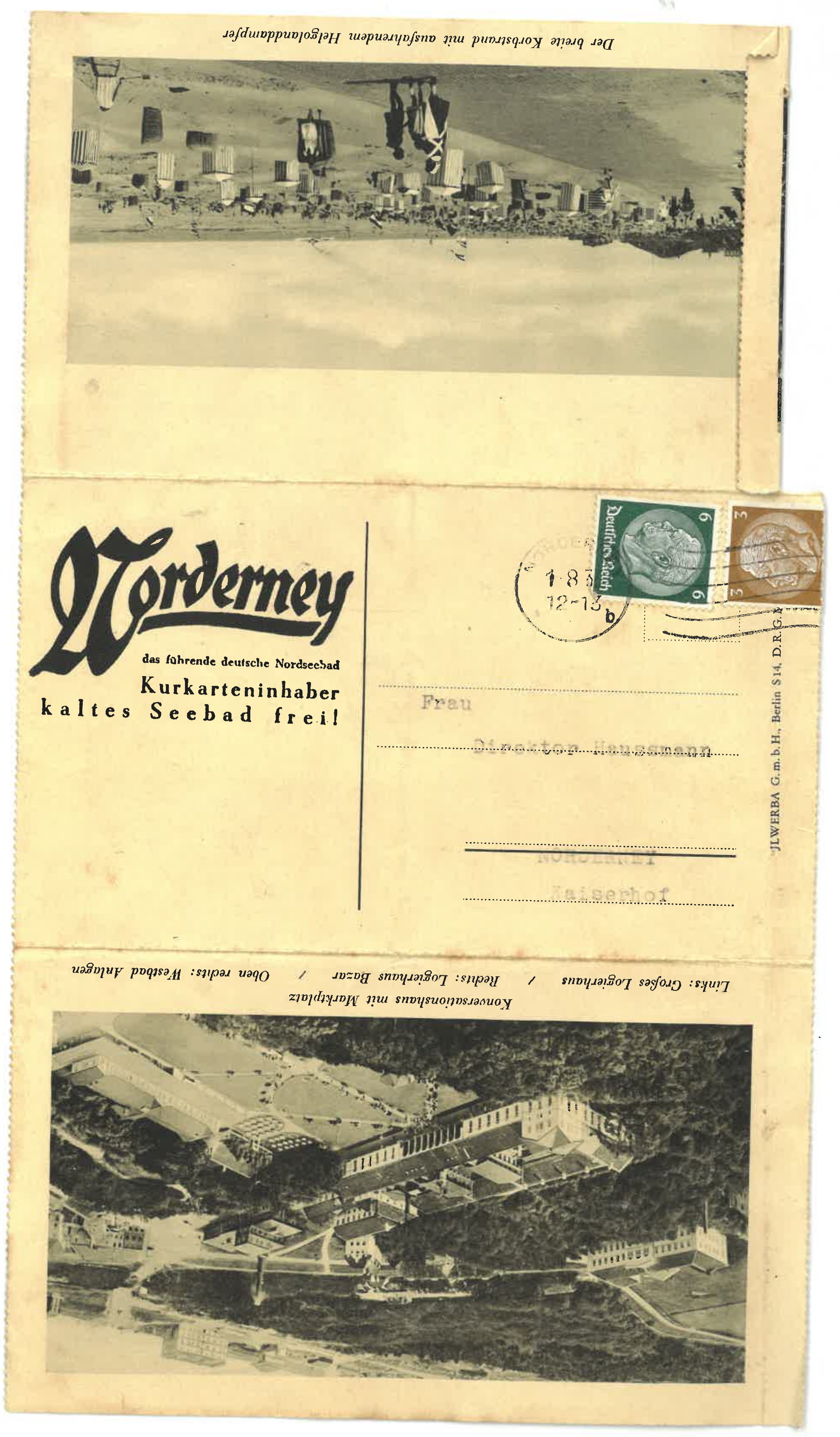 Postcard with antisemitic insults Front page