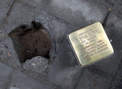 Stolperstein for MD Erna Rüppel