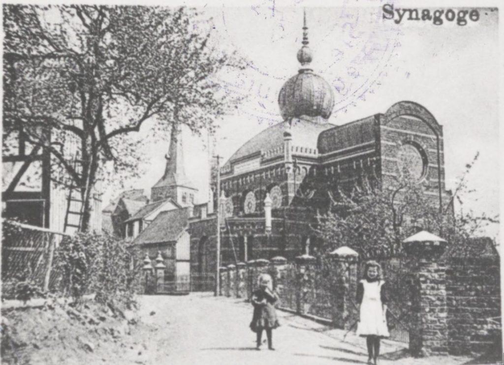 Postcard of the synagogue in Hamm an der Sieg
