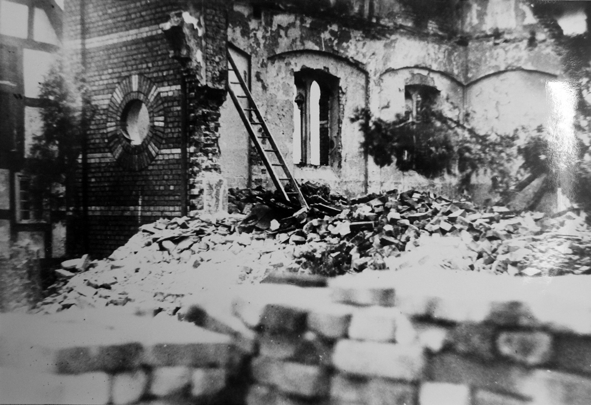 The destroyed synagogue in Hamm
