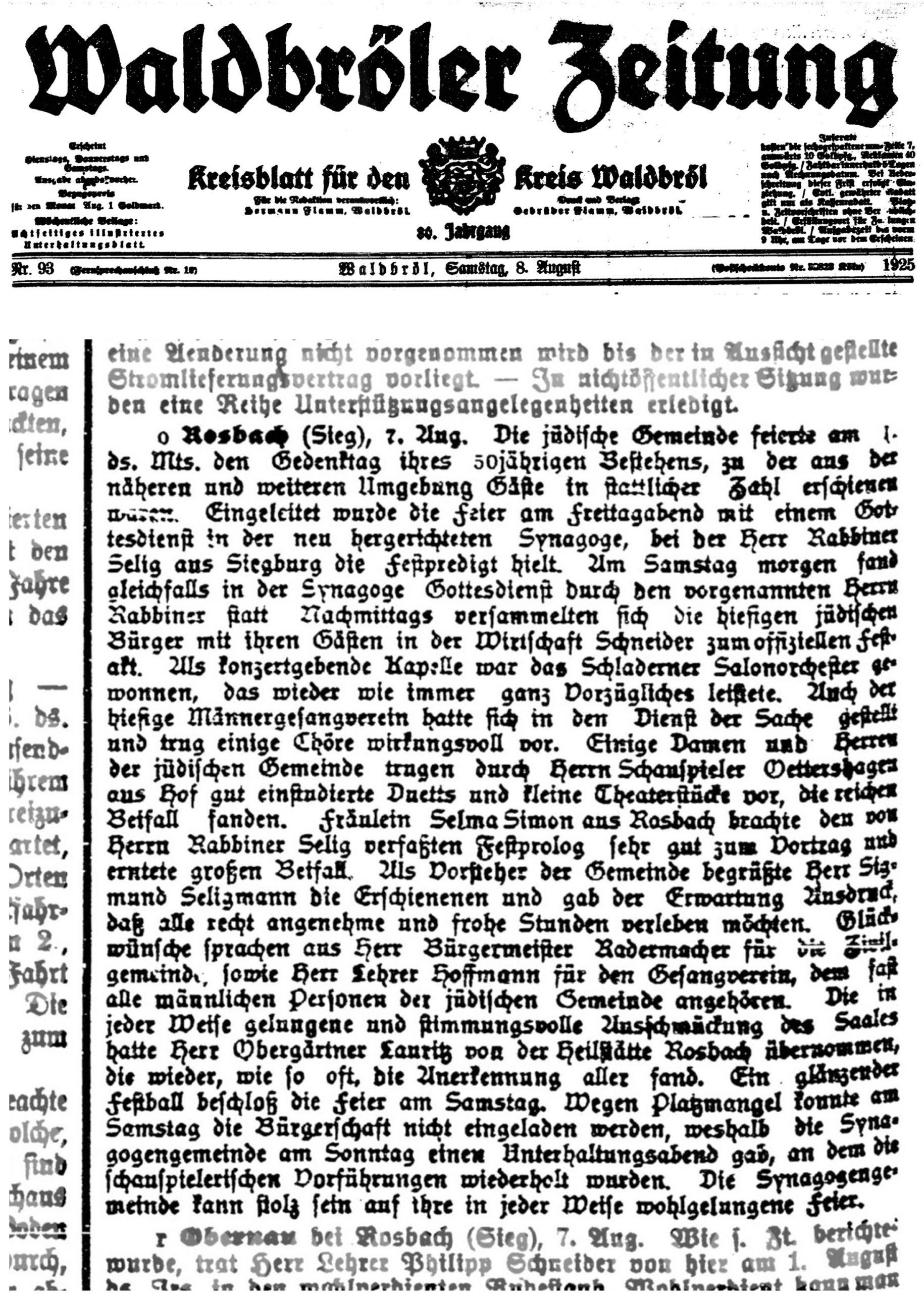 Waldbröler newspaper